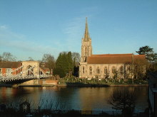 Marlow, Church & Bridge, Buckinghamshire © Rob Farrow